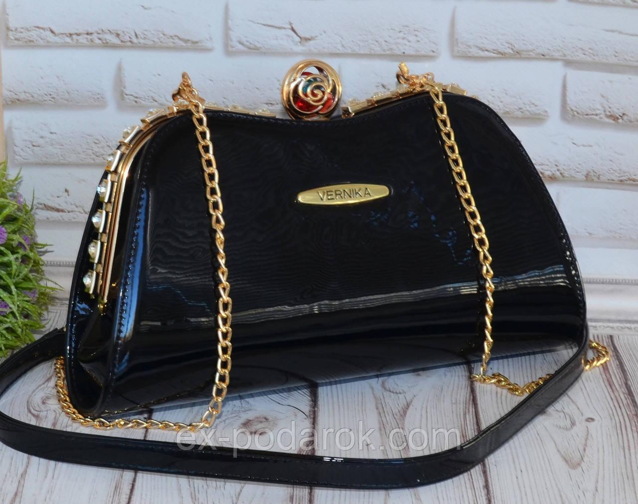 2b0ee0b8df0b Элегантная лаковая сумка-клатч черная: продажа, цена в Чернигове ...