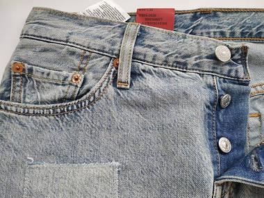 Джинсы женские Levi's 501CT  /W24 L32/Tapered Leg/Button-Fly/Оригинал, фото 3