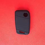 Чехол выкидного авто ключа для VOLKSWAGEN Passat (Фольксваген Пассат) 3 - кнопки, фото 2