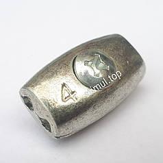 Зажим бочонок для троса 4 мм (бочка) – Затискач бочкоподібний линвовий