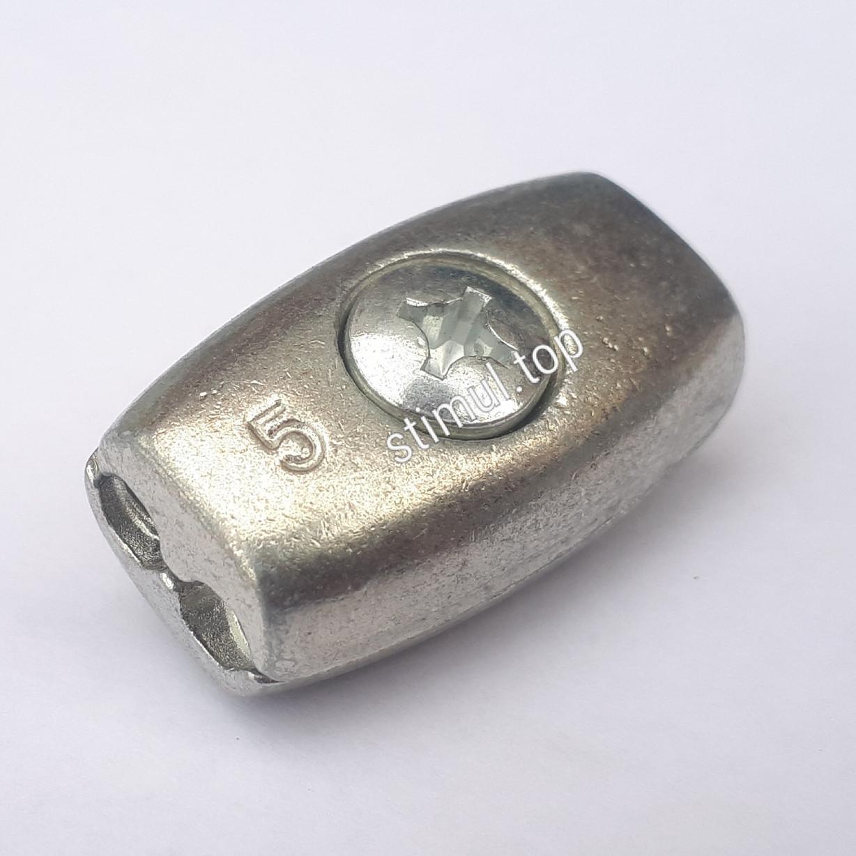 Зажим бочонок для троса 5 мм (бочка) – Затискач бочкоподібний линвовий