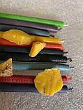 Свеча тонкая  100%  восковая  (оранжевого цвета), фото 5