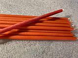 Свеча тонкая  100%  восковая  (оранжевого цвета), фото 3