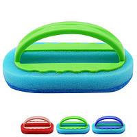 Губка - терка с ручкой кухонная Gladiolus R85955 голубой, 14*8см, пластик, губки для мытья посуды, губки, мочалки, мочалка