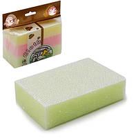 Губки кухонные Hydrangea R85937 в упаковке 3шт, 14*9*3.5см, разные цвета, губки для мытья посуды, губки, мочалки, мочалка