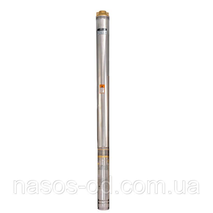 Скважинный центробежный насос Sprut 100QJD208-0.55 0.8кВт Hmax54м Qmax67л/мин Ø97мм (кабель 10м)