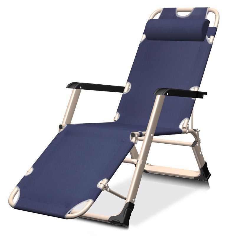 Садовое кресло шезлонг раскладное - с подголовником - усиленный