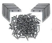 Угловые соединители по 30 штук и настенный кронштейн в комплекте с винтами