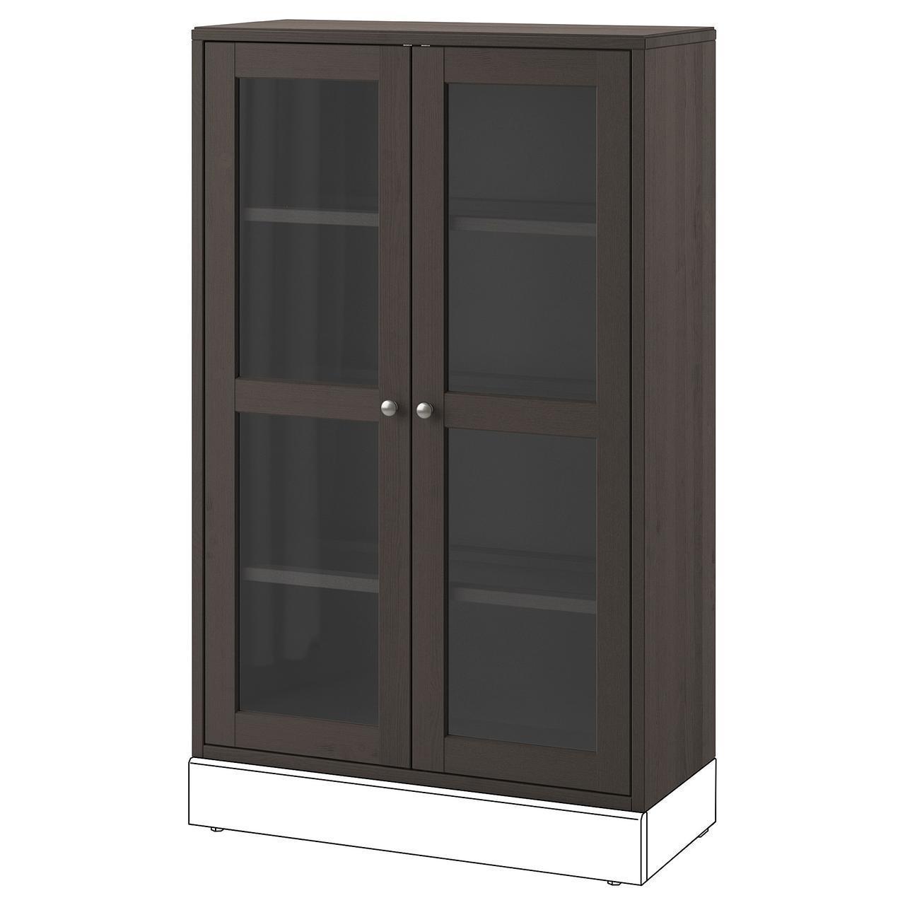 Сервант IKEA HAVSTA 81x123x35 см темно-коричневый 303.910.59