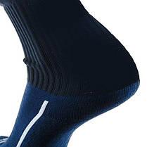 Футбольные гетры Europaw темно-синие с трикотажным носком, фото 3
