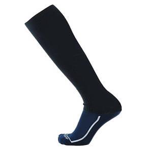 Футбольные гетры Europaw темно-синие с трикотажным носком, фото 2