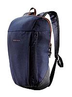 Рюкзак компактный сине черный на 10 литров (велосипедный, легкий, детский) QUECHUA
