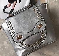 Сумка рюкзак женская, цвет серебро, ЧИТАЙТЕ ПОЖАЛУЙСТА ОПИСАНИЕ ТОВАРА, фото 1