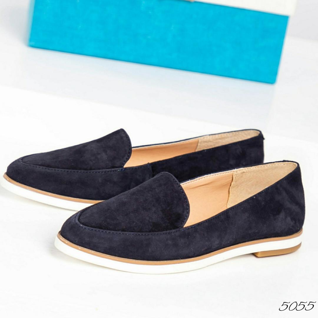 bde941a72 Лоферы женские замшевые темно-синие: продажа, цена в Каменском ...