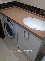 Умывальник в ванную из литого камня со столешницей УМ 005