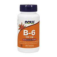 Витамины NOW B-6 100 mg 100 капс