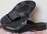 Мюли в стилі Gucci жіночі.! Сабо на низькому ходу з закритим носком Шльопанці Гучи колір чорний, фото 6