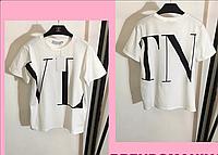 Женская футболка с надписью бренд, с 48- 98 размер, фото 1