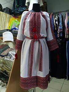 Жіноче плаття вишиванка з поясом р. 54 - 60