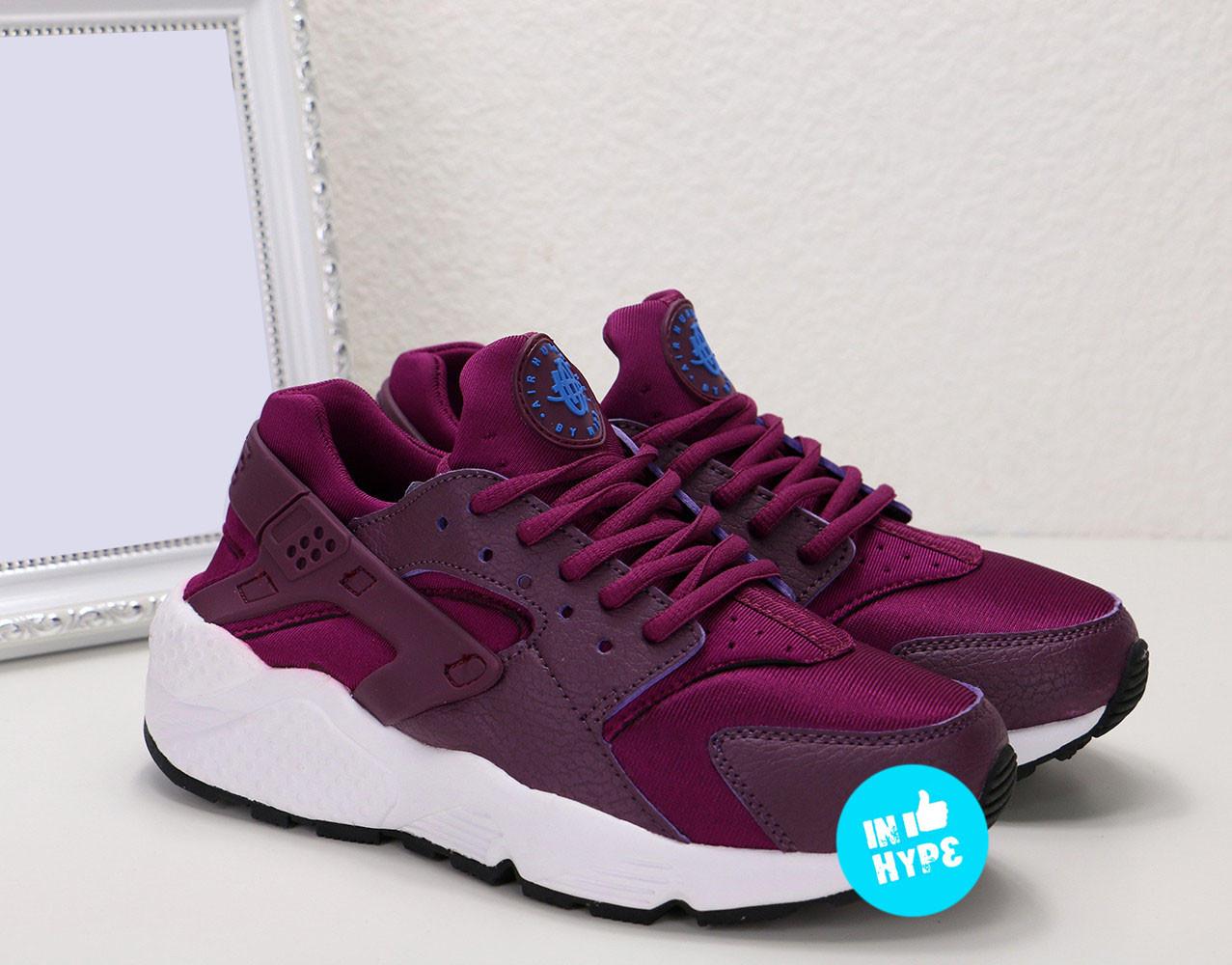 Кроссовки женские Nike Air Huarache purple   Найк Аир Хуараче пурпурные