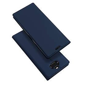 Чехол книжка для Sony Xperia 10 I3113 боковой с отсеком для визиток, DUX DUCIS, темно-синий