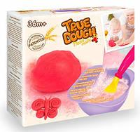 Красное самодельное тесто для лепки натуральное, мерная ложка, миска для замешивания, TrueDough , фото 1