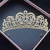 Тіара весільна та весільні сережки , набір ЛЕЙЛА, діадема, фото 5