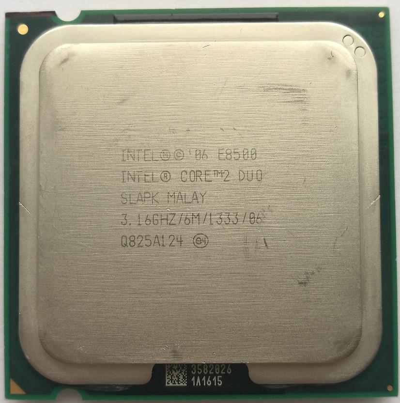 Процессор Intel Core 2 Duo E8500 C0 SLAPK 3.16 GHz 6 MB Cache 1333 MHz FSB Socket 775 Б/У