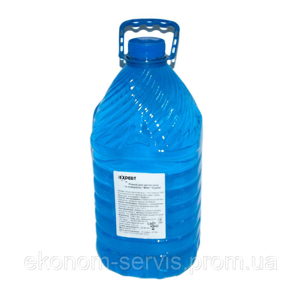 Средство для мытья стекол BLITZ crystal 5л. пет, синий