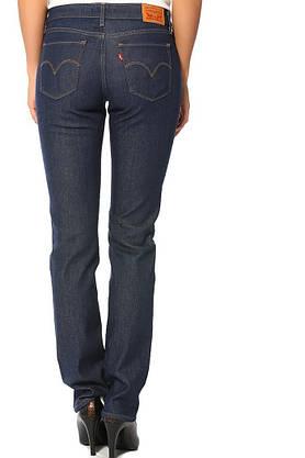 Джинсы женские Levi's 714 Straight/W25xL32/Mid Rise/Slim trough/Hip and thigh/Оригинал, фото 2