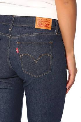 Джинсы женские Levi's 714 Straight/W25xL32/Mid Rise/Slim trough/Hip and thigh/Оригинал, фото 3