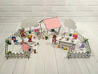 Игровой набор Fana - Дворик с беседкой 18 предметов (1110)