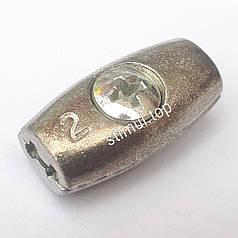 Зажим бочонок для троса 2 мм (бочка) – Затискач бочкоподібний линвовий