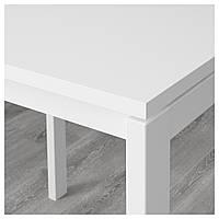 MELLTORP / JANINGE Стол и 4 стула, белый, желтый 391.614.88