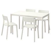 MELLTORP / JANINGE Стол и 4 стула, белый, белый 591.614.87