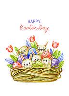 """Открытка """"Happy Easter day"""", фото 1"""