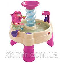 Ігровий стіл для гри з водою Фонтан Спіраль рожевий Little Tikes 173769