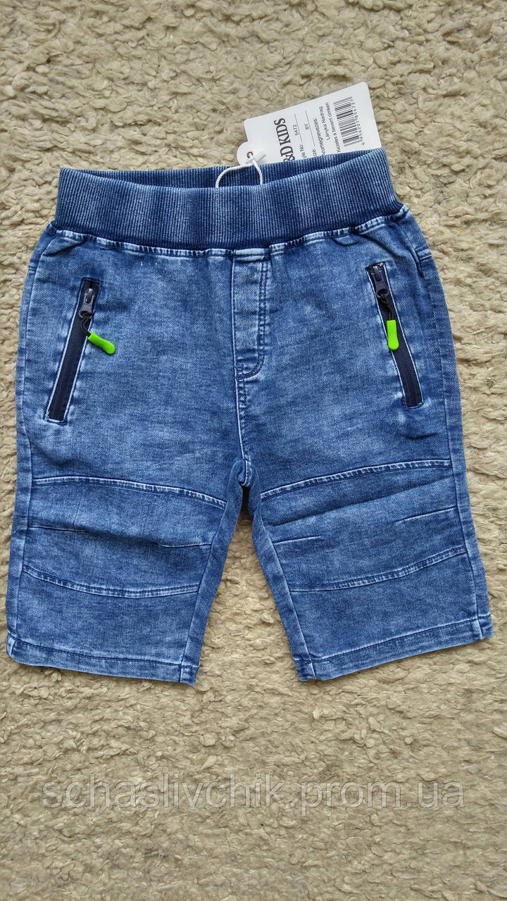 Детские джинсовые бриджи, шорты для мальчиков и девочек, размер 4-12, фирма F&D