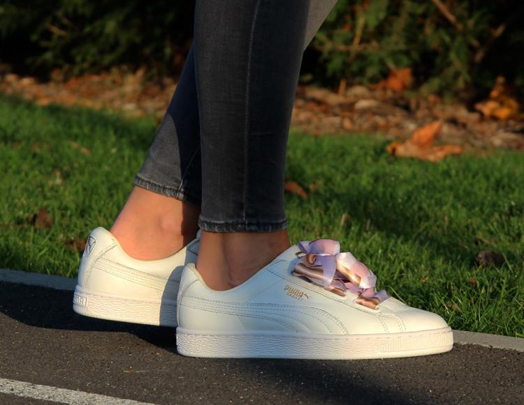 Оригинальные женские кроссовки Puma Basket Heart Geo 37-40р. 365673-01