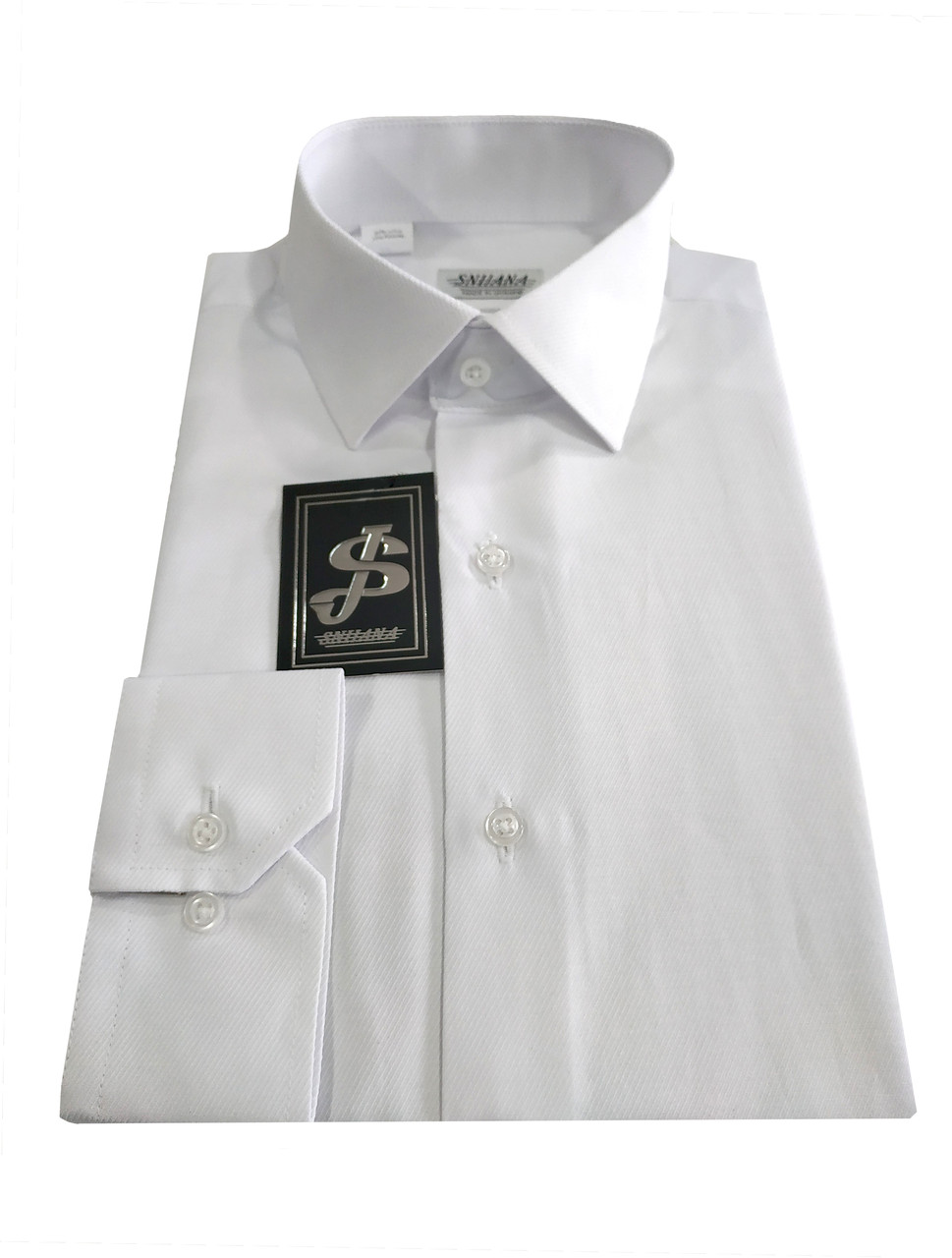 Рубашка мужская классическая №10-32 - диагональ белая