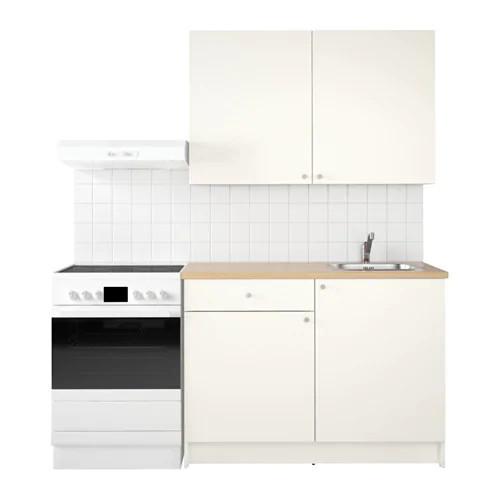 Кухонный гарнитур IKEA KNOXHULT 120x61x220 см белый светло-коричневый 191.804.64