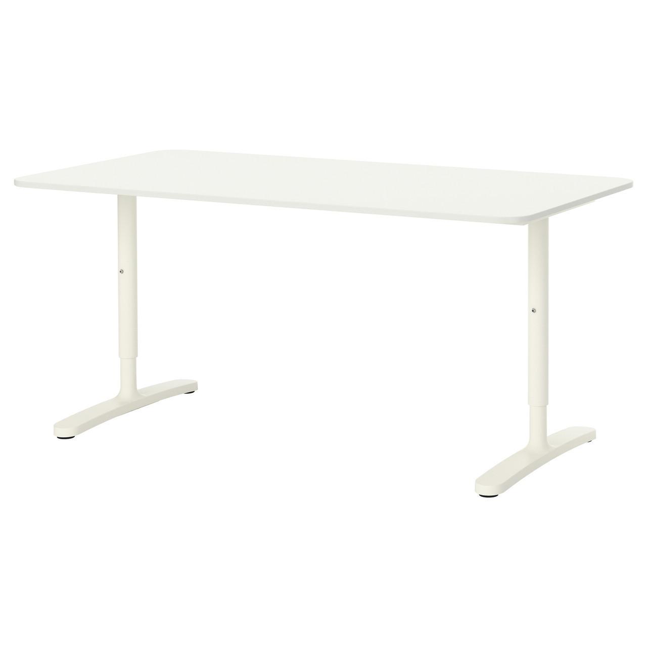 Письмовий стіл IKEA BEKANT см 160x80 білий 190.228.08