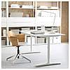 Письмовий стіл IKEA BEKANT см 160x80 білий 190.228.08, фото 5