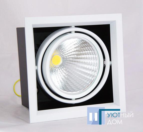 Светодиодный карданный светильник Feron AL211 COB 30W белый