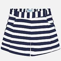 Синие шорты для девочки 6207-69, Размер одежды 10/140см