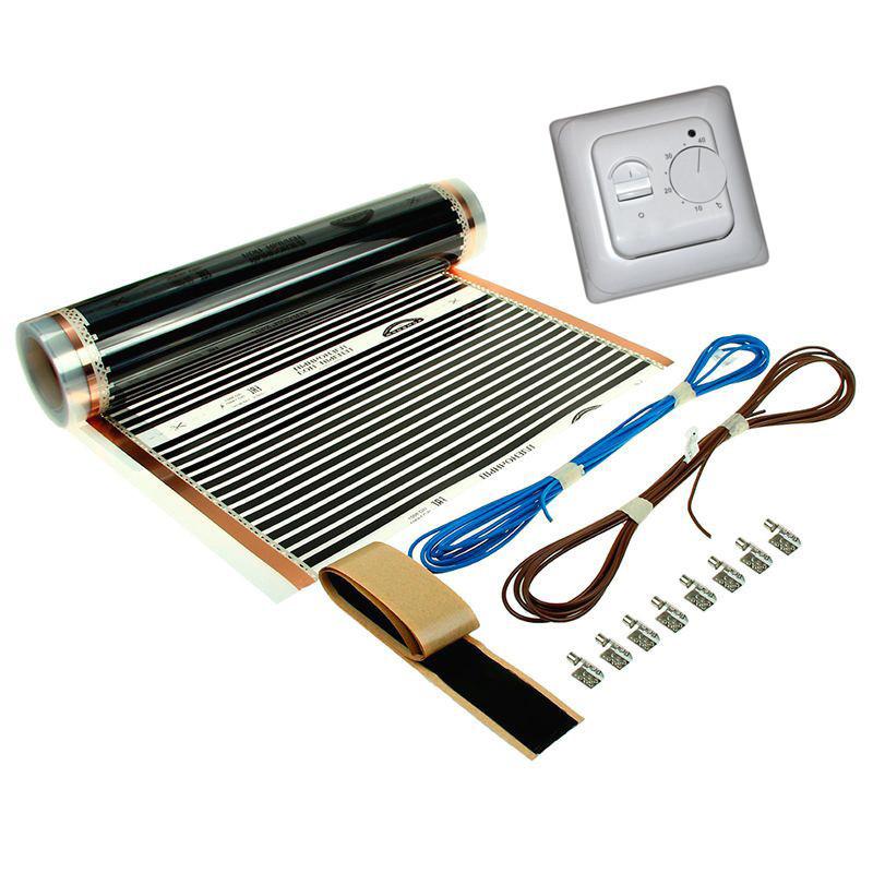 Плівкова тепла підлога 10,0 м2 Korea (Ширина 100 см) Комплект з терморегулятором