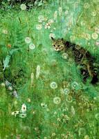 "Открытка ""Кот на зеленом лугу"", фото 1"
