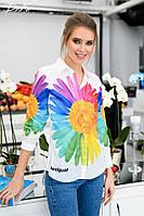 Рубашка женская с длинным рукавом 42 44 46 Цвет: на фото Турция