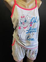 Женские летние пижамы майка с шортами.