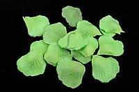 (Цена за 60шт) Искусственные лепестки роз для творчества, зеленого цвета, длина 4.5см,  ширина 4.5см, Декоративные лепестки роз, Цветные лепестки
